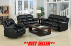VALENCIA SOFA SET SUITE LEATHER RECLINER SOFAS 3+2+1 BLACK BROWN CREAM LAZYBOY