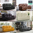 SALE NEW LUXURY VALENCIA  3+2+1 SEATER LEATHER RECLINER SOFAS BLACK,BROWN CREAM