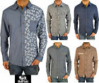 Mens Designer Bellfield Jeans Shirt Long Sleeve Variety Colours Smart Casual G