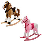Children Rocking Horse Pony Kids Jolly Ride Boy Girl Traditional Toy With Sound