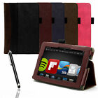 """WALLET SMART CASE COVER PU LEATHER FOR NEW AMAZON KINDLE FIRE HDX 7"""" 2013 GEN."""