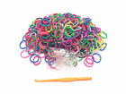 300PC Mixed Color Rubber Or DIY Loom Kit Bands 3Tool Hook Or 20 PCS C/S-Clips