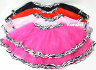 NEW BALLET DANCE PARTY ZEBRA TUTUS TUTU SKIRT TODDLER TO GIRLS 1 TO 6 YEARS OLD