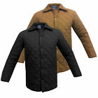 Mens jacket Branded padded quilted sizes S M L XL Soul Star New Black Winter