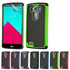 32nd Dual-Layer Shockproof Case Cover For LG Phones + Screen Protector & Stylus