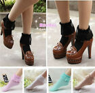 Vintage GIRL comfortable Lace Ruffle Frilly Ankle Socks Princess 5 COLOR TR19