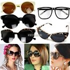 Retro Fashion Black Madness Oversized Mens Womens Classic Style Sunglasses