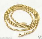 """2mm Solid Miami Cuban Chain Necklace Real 10K Yellow Gold 16"""" 18"""" 20"""" 22"""" 24"""""""