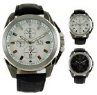 Excellent Quality Mens Black Leather strap Quartz Wrist Watch - Men's/Boy's