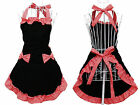Lovely Bowknot Kitcken Bib Aprons With Pocket For Lady Women