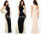 Size S to 2XL New Women Off the Shoulder Ball Gown Wedding Party Maxi Dress Y639