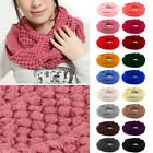 Fashion Women Warm Knitted Neck Circle Wool Cowl Snood Scarf 18 Colour To Choice