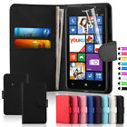 Fits Nokia Lumia 625 Wallet Flip Leather Case Cover Free Screen Protector