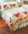 LOVELY THREE-PIECE WATERCOLOR FLORAL KING OR FULL/QUEEN BEDDING COMFORTER SET