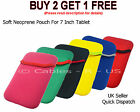 """Soft Neoprene Case Sleeve Cover Skin Pouch For 7 Inch Tablet 7"""""""
