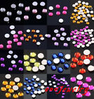 1000pc Faceted Flat Round Back Rhinestone Bead For Nail Art  Decoration DIY