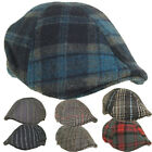 Men's Wool Ivy Hat Ascot Cap Plaid Stripe Duckbill Ivy KBW Cabbie Newsboy Hats