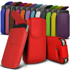 Magnetic PU Leather Pull tab Pouch Skin Case Cover For Various Mobile Phones