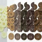 "9mm 3/8"" SZ 14 Small Plastic Coat Suit Buttons BROWN 100-1000 buttons Wholesale"