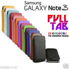 Samsung Galaxy Note 3 PU Leather Pull Tab Cover Case Pouch Sleeve Note III Note3