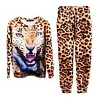 New Sexy Wild  Women Girls 3D Lion Leopard Tiger Printed Sweat Hoodie Tops Suits