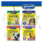 Johnsons One Dose Easy Wormer Dog Worming Tablets Tapeworm Roundworm Size1,2,3,4