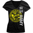 U.S. Army - United States Of America Seal USA Troops Girls Junior V-Neck T-Shirt