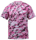Pink Camo T-shirt Digital Pink Camouflage Cotton Poly Blend Rothco 8957
