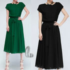 Exquisite Vintage Office Cocktail Party Formal Chiffon Dress AU SELLER dr069