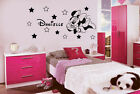 PERSONALISNIE DISNEY MINNIE MOUSE WALL STICKER (12 star) C