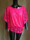 Lovely ladies, lined  lace crochet effect gypsy style top one. OSFA upto size 18