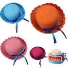 Baby Kids Girl Bowknot Flower Straw Spring Summer Beach Sun Hat Party Cap Gift