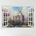 Full Colour Fairy Tale Castle Child's Window Wall Sticker Decal mural transfer