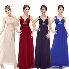 Ladies New Sexy V-neck Long Formal Prom Evening Bridesmaid Party Dresses 08083