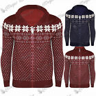Mens Brave Soul Zip Up Long Sleeves Knitted Aztec Cardigan Sweater Jumper Top