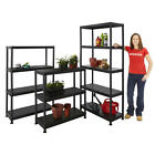 Plastic Shelves Storage Shelf Shelving Garden Garage Shed Greenhouse 3 4 5 Tier