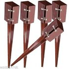 Steel Fence Post Holder 750mm Spike Support Rust Resistant 75mm Metal Stakes 3