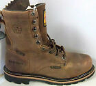 "Justin Men's 8"" Lace-Up Waterproof  Met-guard Work Boots  WK630-sev. sizes"