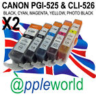[ANY 10] CLI526 & PGI525 CHIPPED Ink carts compatible with CANON PIXMA printers