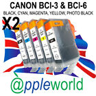 2 SETS [10 inks] Canon Ink Cartridges compatible with BCI-3Bk + BCI-6Bk, C, M, Y