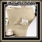 1200 Thread Egyptian Cotton sheet Set - Beige Plain