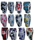 NEW MENS FLORAL SHORTS FLOWER SURF BOARD SWIM BEACH PRINT MESH LINING SHORTS