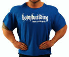 ROYAL BLUE  HARDCORE WORKOUT TOP BODYBUILDING CLOTHING L-142