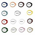how to use curtain rings - Set of 12 Easy-to-Use Plastic Snap On Shower Curtain Rings / Hooks