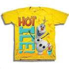 DISNEY FROZEN BOYS TODDLER YELLOW GRAPHIC TEE T SHIRT HOT OLAF SNOWMAN 3T 4T 5T