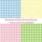 Gingham Printed Edible Icing or Wafer Paper Sheet Picnic Retro 1950's Bunting