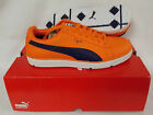 New Puma PG Clyde Golf Shoes - Vibrant Orange/Evening Blue - Select Size