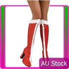 Rubies Womens Wonder Woman Red White Superhero Red Boots Knee High Shoes