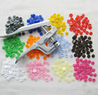 E571 Size 20 T5 KAM Resin Snap Buttons For Cloth Bib Diaper Pliers 13 Colors