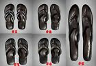 NWT Abercrombie Fitch A&F Hollister Men Genuine Leather Flip Flops Sandal Brown